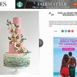PINK AND SAGE - wedding cake Brides 50 Most Beautiful Cakes