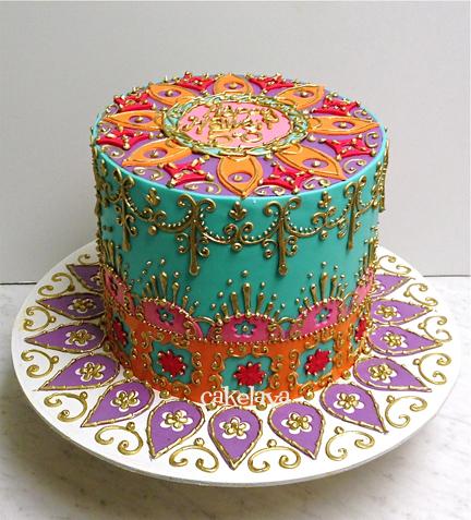 Paisley Cake Decorations