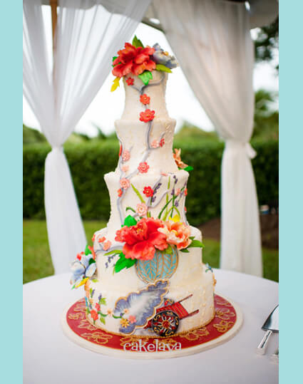 Karen wedding cake inspired by couture dress