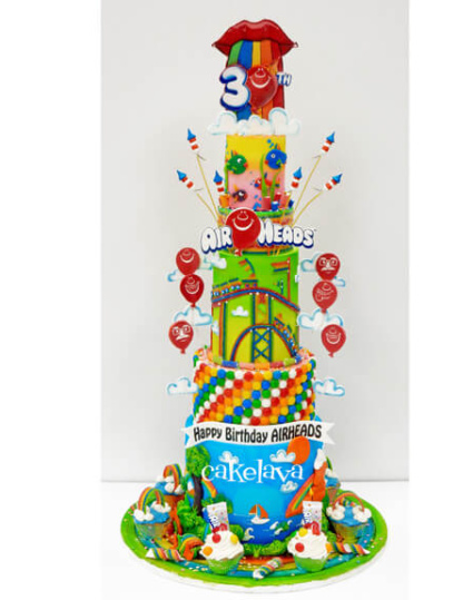 Airheads 30th Birthday cake by cakelava, Las Vegas, NV