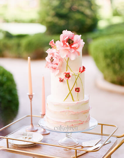 Garden theme wedding cake