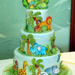jungle birthday kids cake