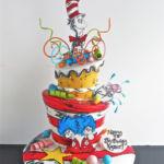 Dr. Seuss cake 2 tier