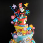 Dr. Seuss cake 3 tier