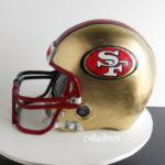 San Francisco 49'ers football helmet cake
