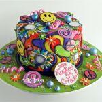 1970's theme cake