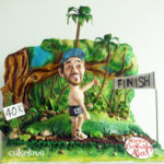 Tropical theme cake for a runner