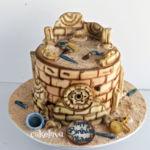 archaeology themed cake