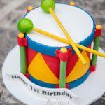 Baby drum cake