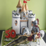 castle and knight cake
