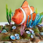 Clownfish in coral cake