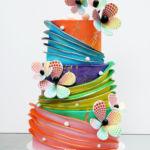 Whimsical colorful cake