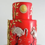 Japanese cranes cake
