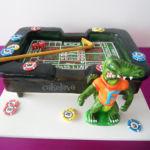 Las Vegas craps table custom cake