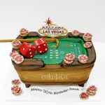 Las Vegas craps table cake