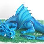 blue dragon cake