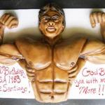 Ernie - bodybuilder cake