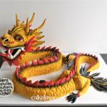 gold dragon cake