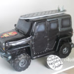 Sculpted Jeep cake