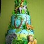 Jungle safari theme cake