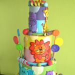 colorful jungle kids cake