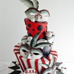 Masquerade theme custom birthday cake