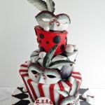 Masquerade theme custom birthday cake