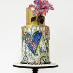 MAXIMA - Graffiti heart cake