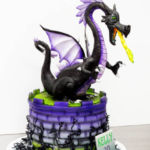Fire breathing dragon cake - Maleficent theme