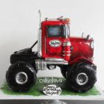 red Monster Truck cake