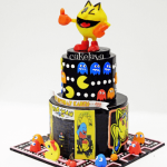 Pac-man themed cake