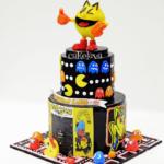 Pac-man themed cake