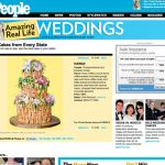 cakelava bamboo wedding cake in People magazine