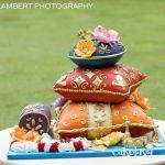 SCULPTED INDIAN PILLOWS WEDDING CAKE