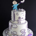 Purple Crayon book cake
