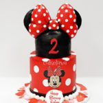 red bow cake