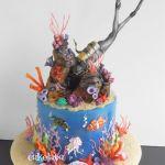 Scuba diver cake