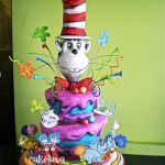 Dr. Seuss cake sculpted