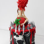 Sexy Redhead cake - back view