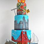 San Francisco theme cake