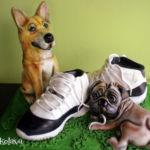 Shiba Inu and Pug cake