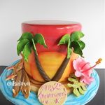 Sunset beach cake