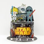 Cute Star Wars kids cake