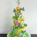 Fairy in garden cake