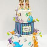 Birthday cake for twin babies
