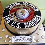 US Marine Corps birthday cake
