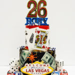 Las Vegas themed birthday cake