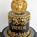 designer cake with gold