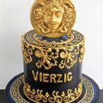 designer cake with gold