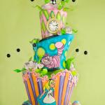 wonky wonderland cake